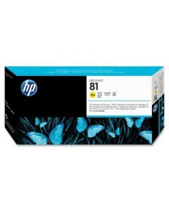 HP 81 C4953A Printhead and Printhead Cleaner for DesignJet 5000 series, Yellow